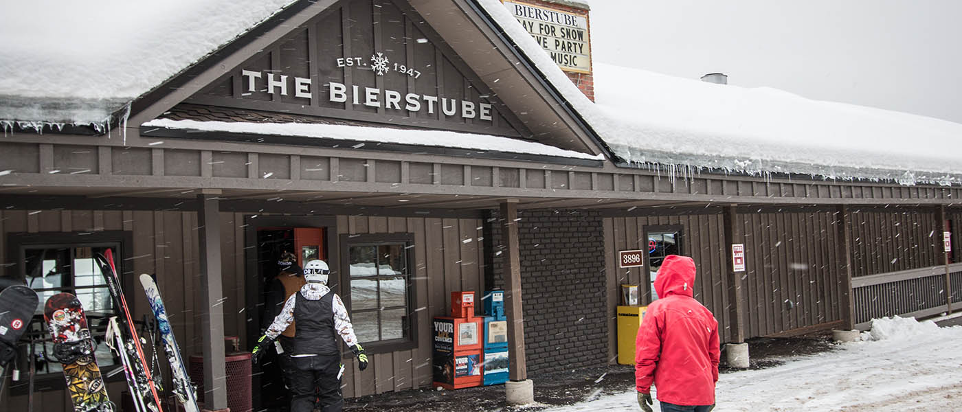 Photo from outside the Bierstube looking towards the entrance.
