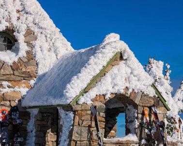 Photo of hut on Mount Spokane.