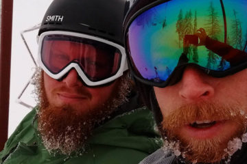 Selfie of the Andy Fuzak and the author on the chairlift.