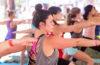 Yoga practitioners at Spokatopia