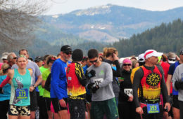 Photo of racers at start line.