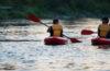 Photo of kayakers on the Spokane River.