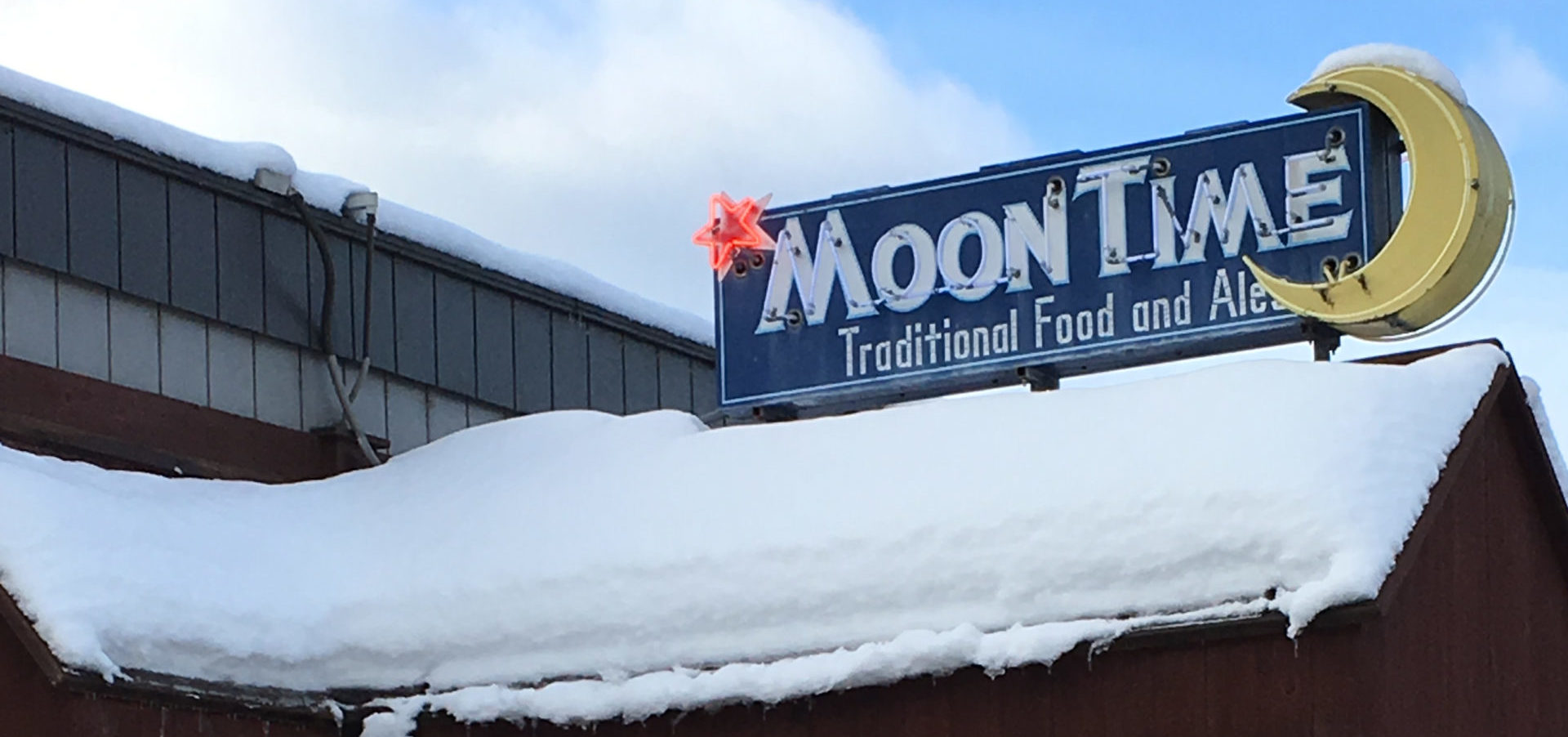 Moon Time neon sign.
