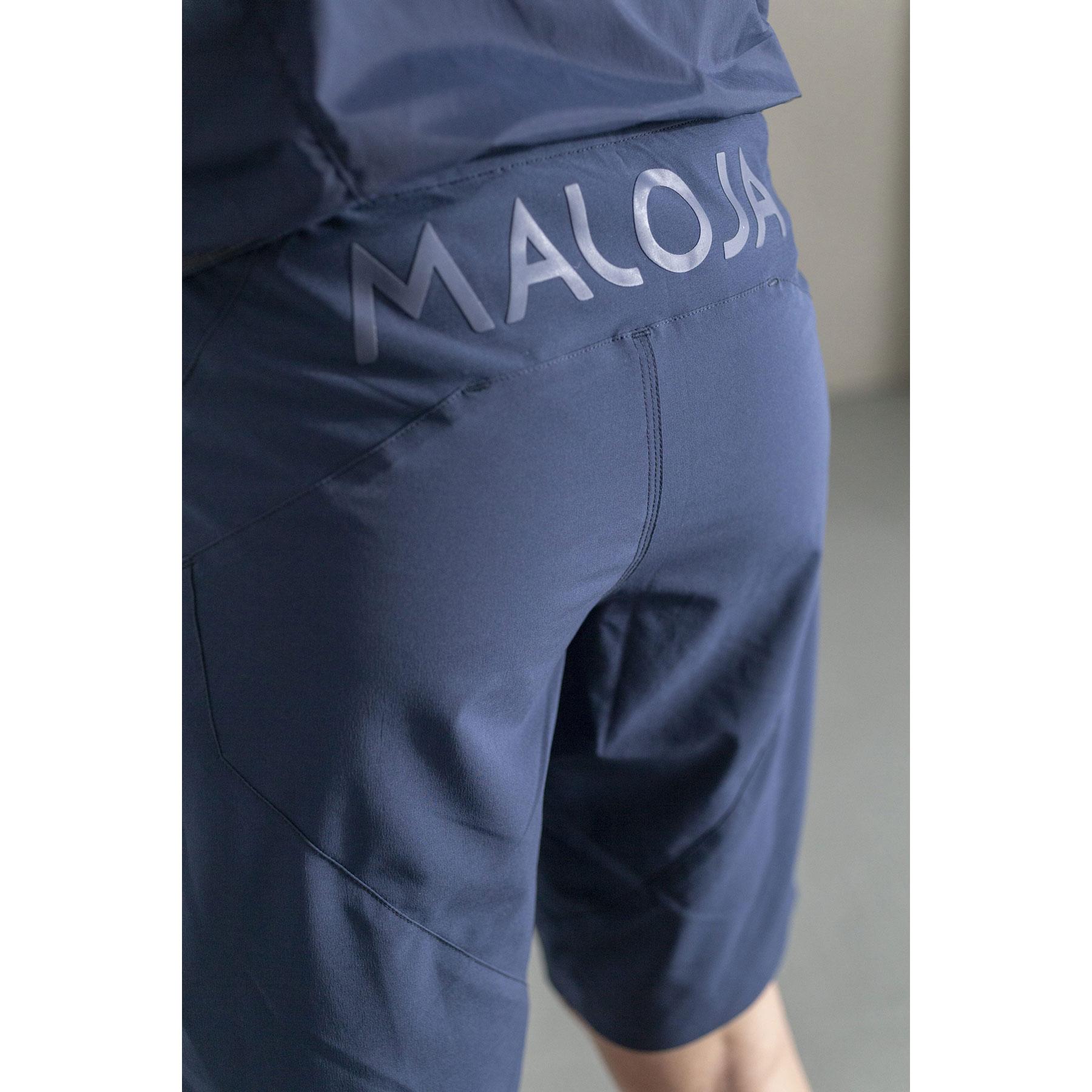 Man wearing Maloja multisport shorts.
