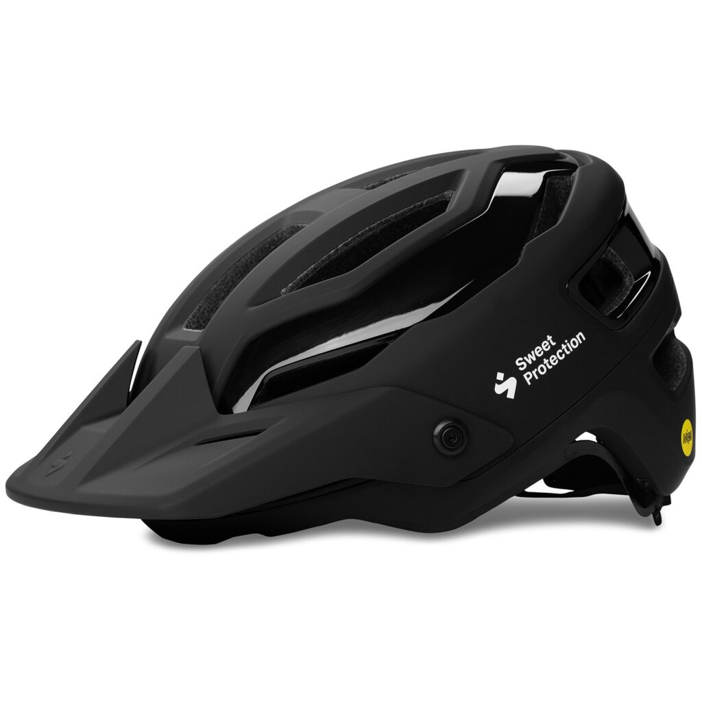 Black biking helmet.