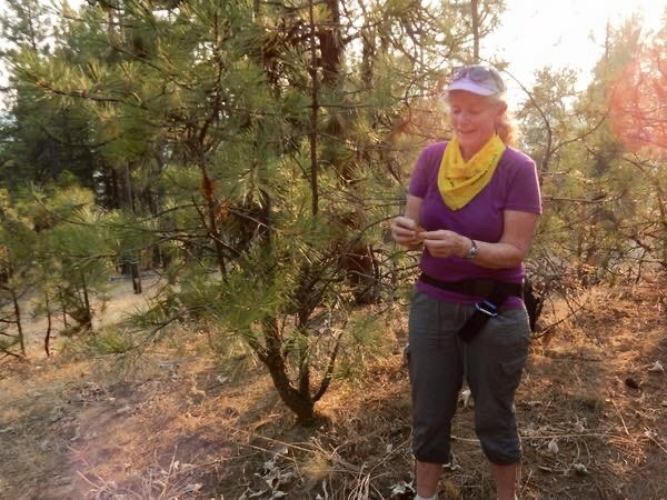 Trail advocate Diana Roberts at High Drive Bluff Park in Spokane, Wash.