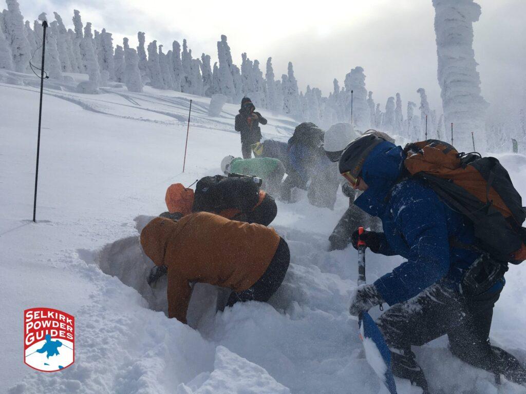 Strategic snow shoveling competition.