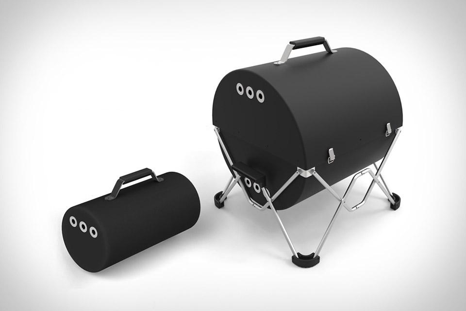 Portable grill.