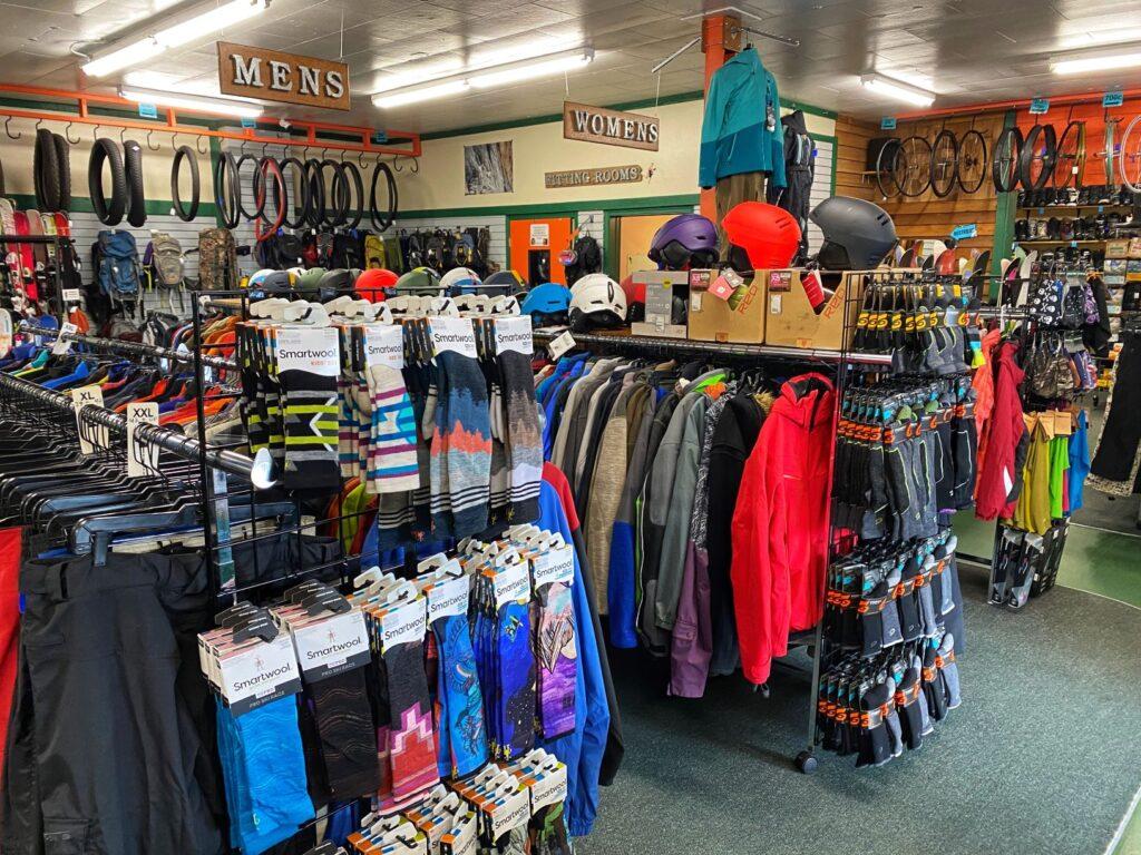 inside Rambleraven Gear Trader store.