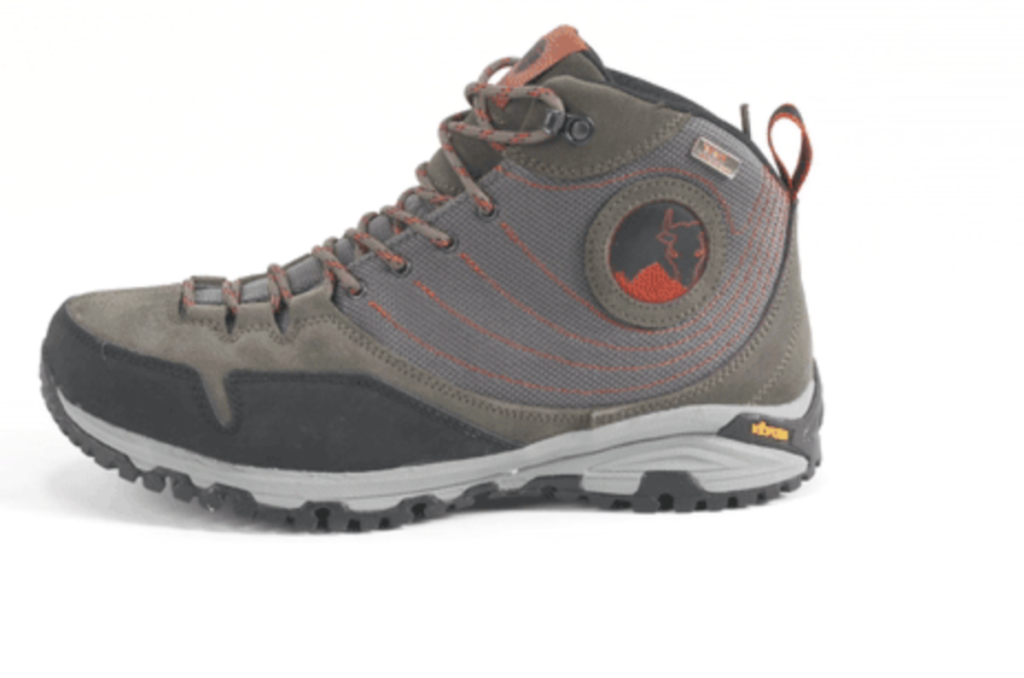 Midweight waterproof hiking boots made by Mishmi Takin.