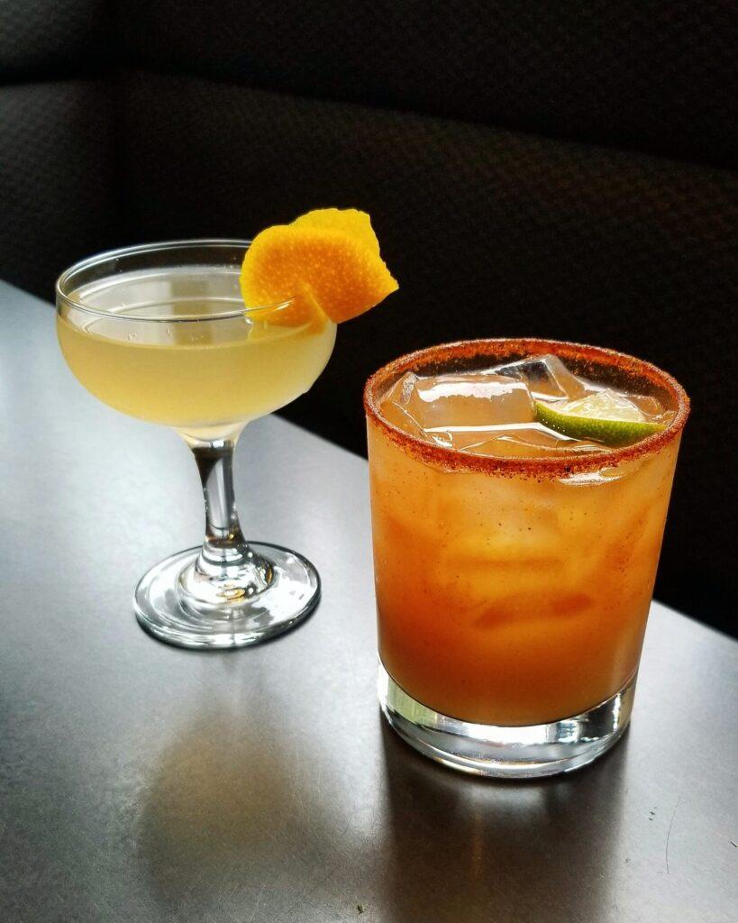 Cochinito Taqueria cocktail kits to go: North Utshire and a Blood Orange Margarita.