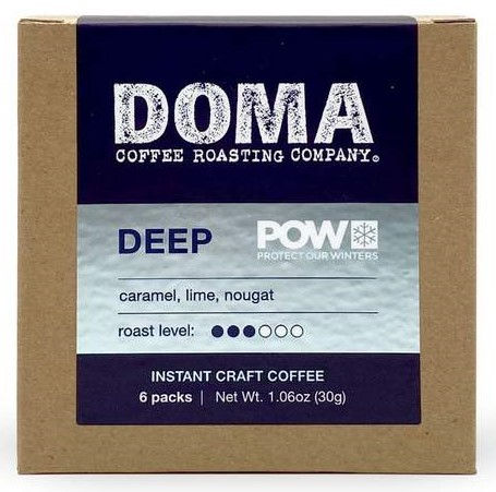 Doma Instant Craft Coffee.