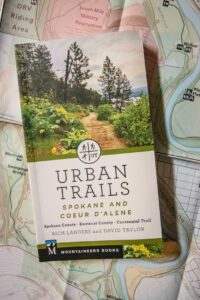 Urban Trails book on a map.