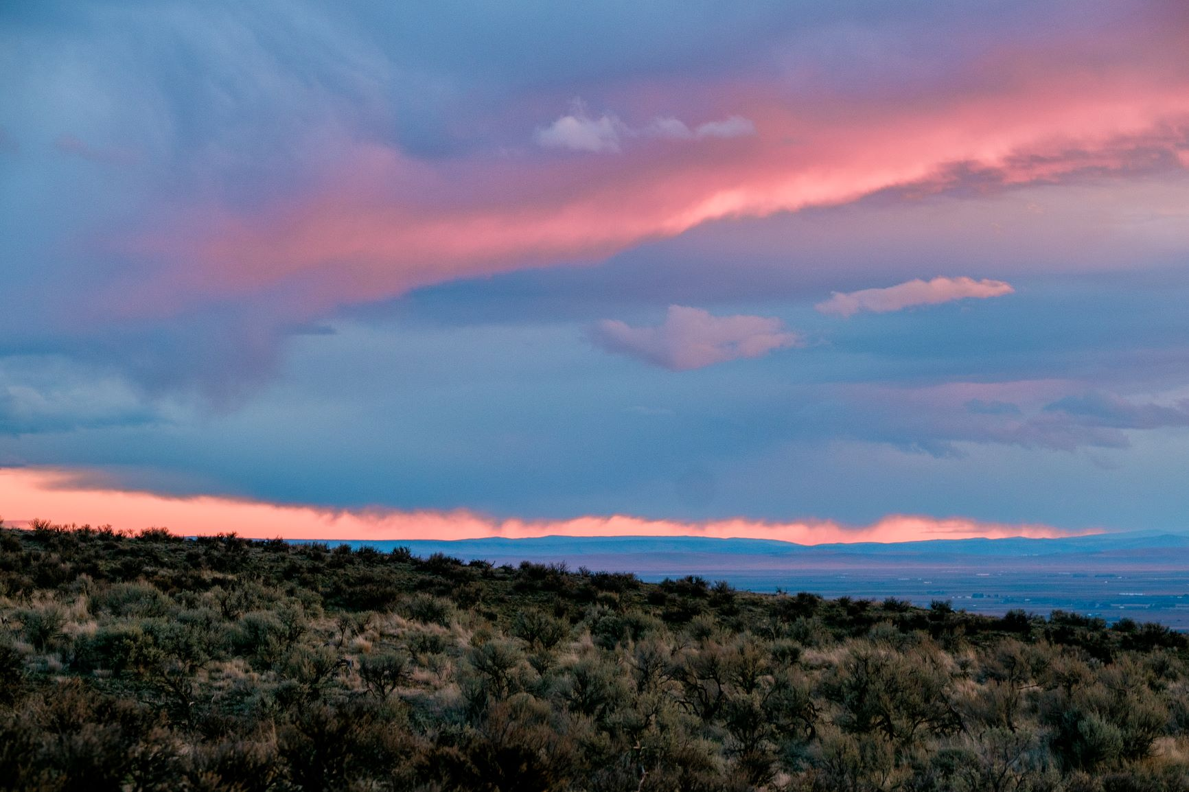 Sunset at Beezly Hill in Central Washington.