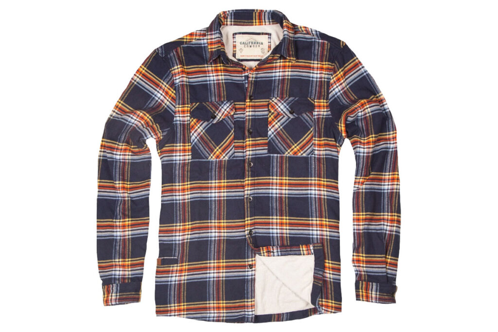 California Cowboy brand High Sierra shirt, daffy plaid.