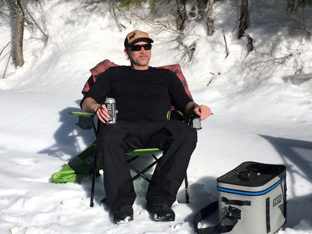 OTO Publisher Derrick Knowles enjoying winter sunshine.