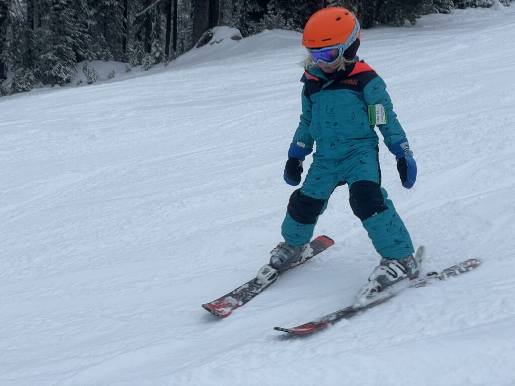 Child skiing.