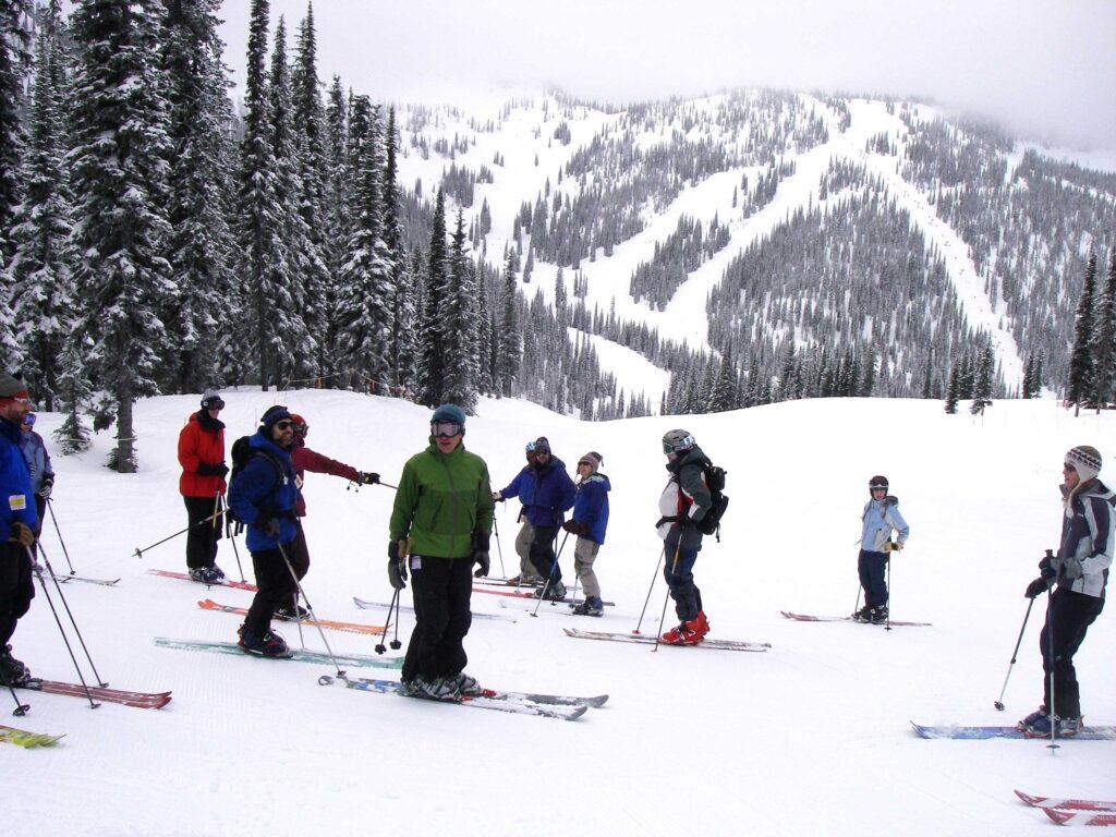 Ski lessons at Whitewater Ski Resort.