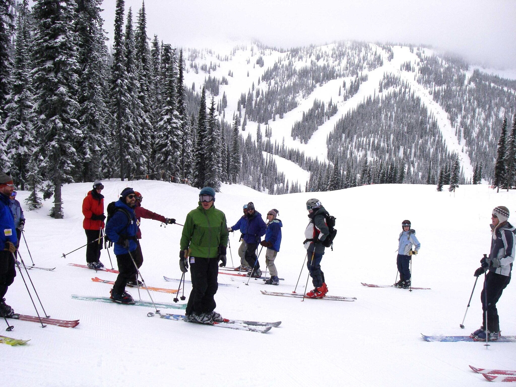 Ski lessons at Whitewater Ski Resort.