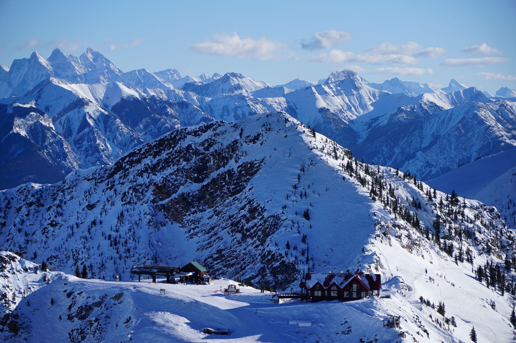 Kicking Horse ski mountain in British Columbia's Kootenay range.