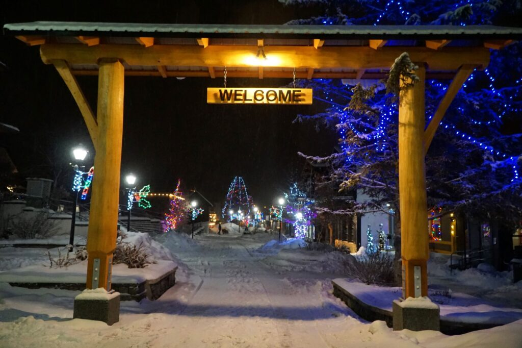 "Wooden ""Welcome"" sign to Kimberley, B.C."