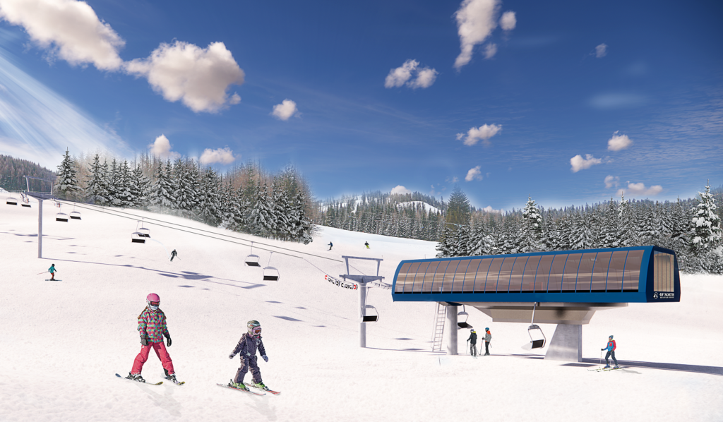 Artistic rendering of a new chairlift.