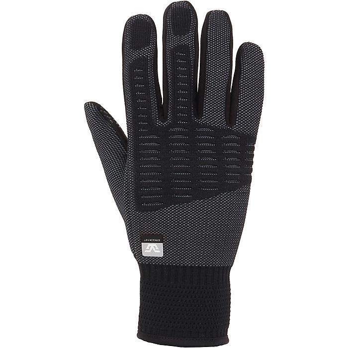 Gordini Tempo gloves: black with stretchy wrist cuff.