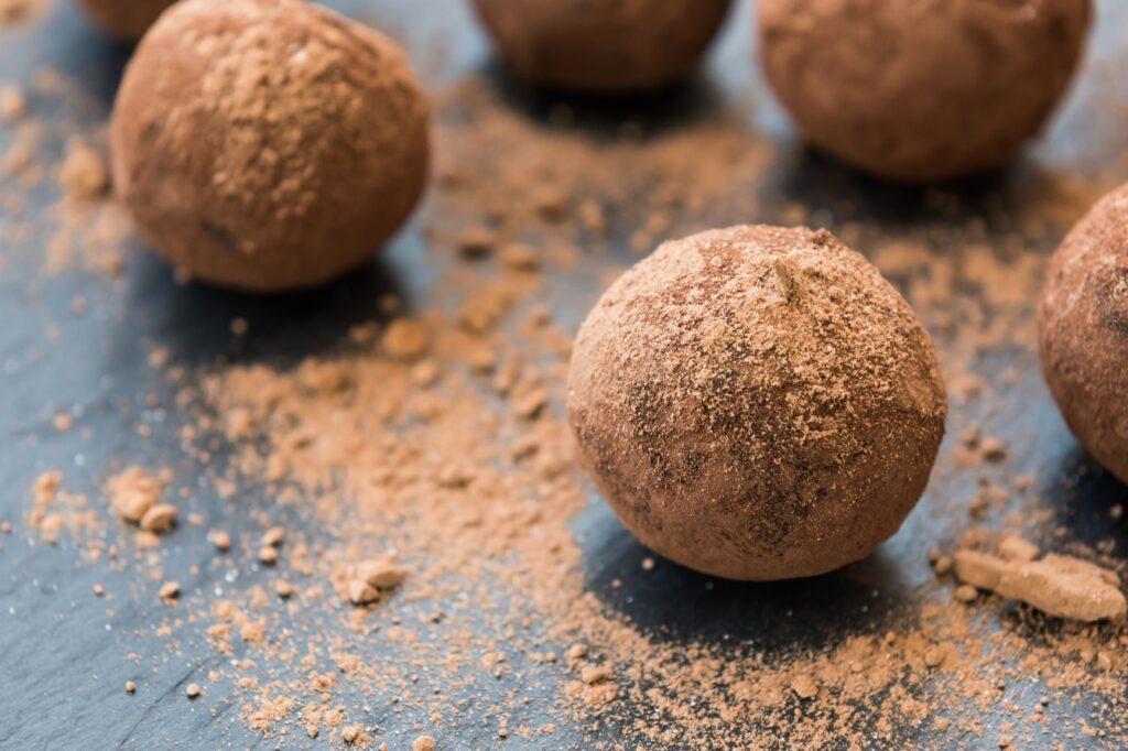 Round, bite-sized protein balls.