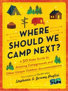 """Book cover of """"Where Should We Camp Next?"""""""