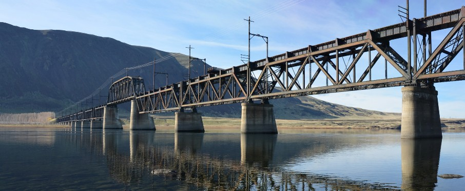 Historic bridge spanning the Columbia River is now a rail-to-trail for the Palouse to Cascades Trail State Park.
