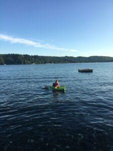 Sarah's daughter kayaking at Hood Canal.