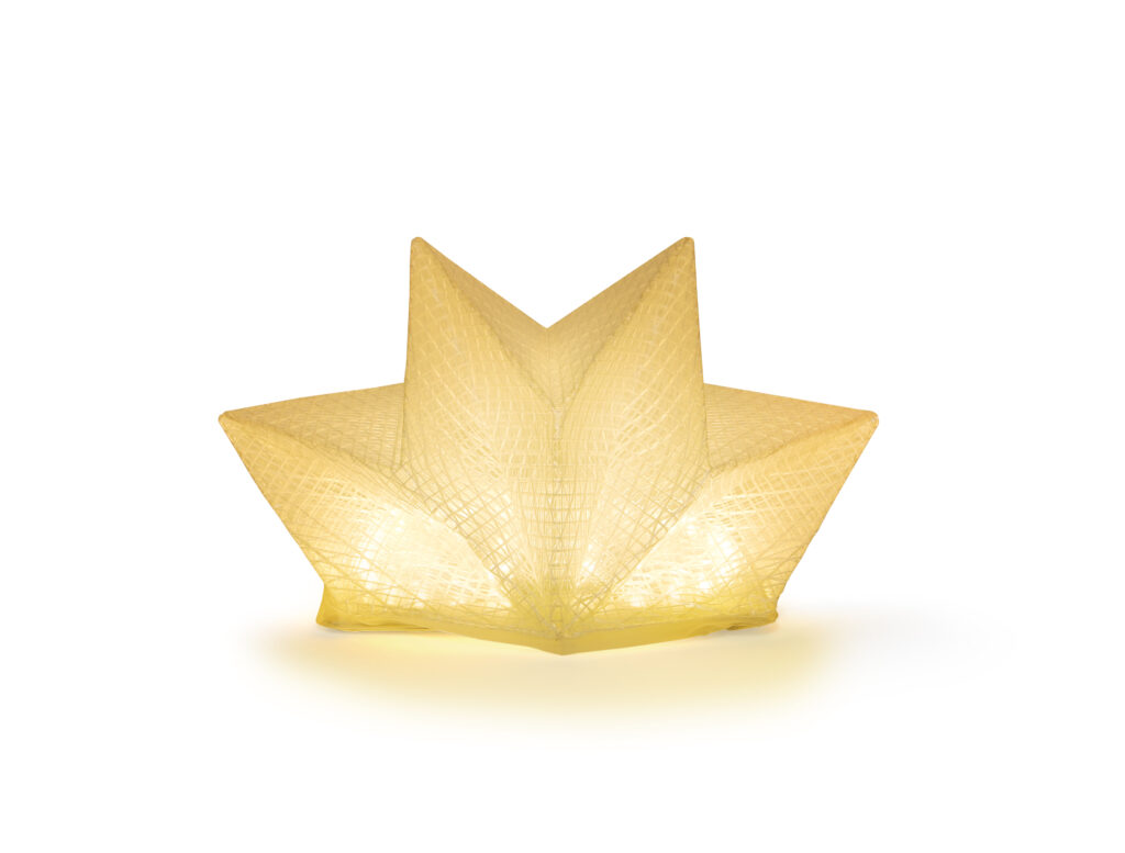 Solight solar lantern looks like a golden crown.
